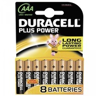 Duracell Battery Alkaline AAA 8er Plus Power