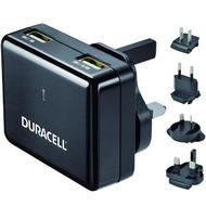 Duracell Ladegerät Travel Charger, 2.4A und 1A, schwarz