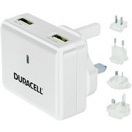 Duracell Ladegerät Travel Charger, 2.4A &1A, White