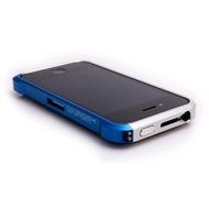 ELEMENTCASE Vapor4 für iPhone 4, silber-aquablau