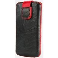 Emporia Leder-Hülle Waschoptik div. Modelle schwarz mit roter Naht