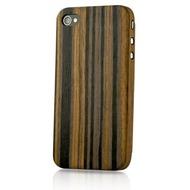 Evouni Edle Holz-Schutzhülle für iPhone 4 /  4S, Ebenholz