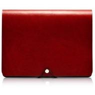 Evouni Handgefertigte Leder Schutzhülle für iPad 1, weinrot