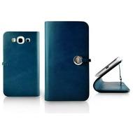 Evouni Handgefertigte Leder Schutzhülle für Samsung Galaxy S 3, blau