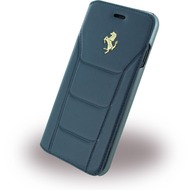 Ferrari 488 Gold - Leder Book Cover - Apple iPhone 7 - Blau