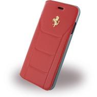 Ferrari 488 Gold - Leder Book Cover - Apple iPhone 7 - Rot