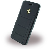 Ferrari 488 Gold - Leder Book Cover - Apple iPhone 7 - Schwarz