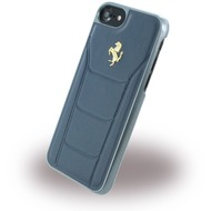 Ferrari 488 Gold - Leder Hardcover - Apple iPhone 7 - Blau