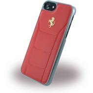 Ferrari 488 Gold - Leder Hardcover - Apple iPhone 7 - Rot