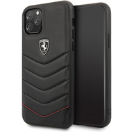 Ferrari Heritage Quilted - Apple iPhone 11 Leder Hard Cover Handyhülle Schutzhülle