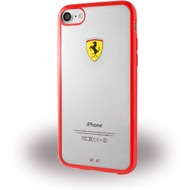 Ferrari Racing Shield - Silikon Cover - Apple iPhone 7 - Rot