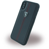 Ferrari Vertical Stripe, Hardcover, Apple iPhone X, Schwarz