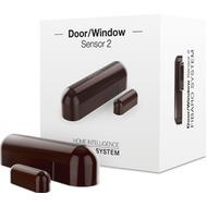 Fibaro Tür- und Fensterkontakt 2 Dunkelbraun - Z-Wave Plus