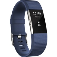 FitBit Charge 2, Blue Silver, Large