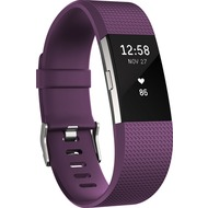 FitBit Charge 2, Plum Silver, Large
