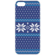 Flavr Cardcase Ugly Xmas Sweater for iPhone 5/ 5S/ SE blau