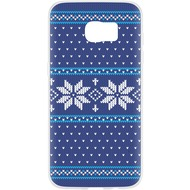 Flavr Case Ugly Xmas Sweater for Galaxy S7 Edge blau