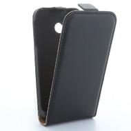 Flip-Style Kunstleder Tasche Vertikal m. Halterung für Huawei Honor 6 Plus - Schwarz