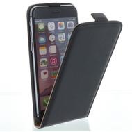 Flip-Style Kunstleder Tasche Vertikal mit Halterung für Apple iPhone 6, iPhone 6S - Schwarz
