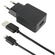 Fontastic 2-teiliges Lade-/ Daten-Set - Lightning 1A schwarz - USB Netzteil/ Datenkabel - 1.00 m
