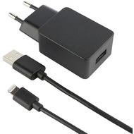 Fontastic 2-teiliges Lade-/ Daten-Set - Lightning 2.4A schwarz - USB Netzteil/ Datenkabel - 1.00 m