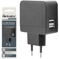 Fontastic Essential Netzteil Duo 2x USB 2.1A schwarz