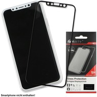 Fontastic Full Cover Schutzglas Schwarz komp. mit Apple iPhone 11 Pro /  XS /  X