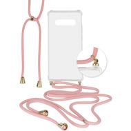 Fontastic Hybridcover Thea transparent mit Kordel pink komp. mit Samsung Galaxy S10 Plus