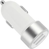 Fontastic Kfz-Ladeadapter Picco Twin-USB 2.4A weiß/ silber