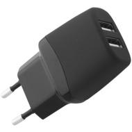 Fontastic Netzteil Green Twin-USB 1A schwarz <30mW Standby