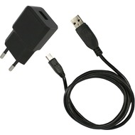 Fontastic Netzteil Nano USB 2.1A schwarz inklusive MicroUSB 3.0 Datenkabel 1m