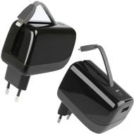 Fontastic Netzteil Virtue Lightning 2.1A schwarz mit integrierter Powerbank 5200mAh