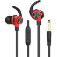 Fontastic Prime In-Ear Sport Headset SPRY 3.5mm sw /  rot Rufannahme-Taste, Sicherer Tragekomfort