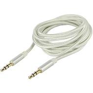Fontastic Prime Klinkenkabel 3.5mm Nylon umflochten 1.5m silber Klinke auf Klinke Stereo Alu-Gehäuse