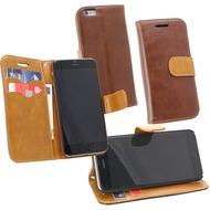 Fontastic PU Tasche Diary Twin braun für Apple iPhone 6/ 6s
