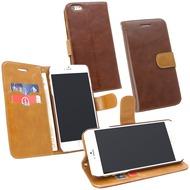 Fontastic PU Tasche Diary Twin braun für Apple iPhone 6+/ 6s+