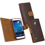 Fontastic PU Tasche Diary Twin dunkelbraun für Samsung Galaxy S4 Mini