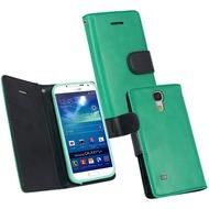 Fontastic PU Tasche Diary Twin grün für Samsung Galaxy S4