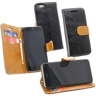 Fontastic PU Tasche Diary Twin schwarz für Apple iPhone 6/ 6s