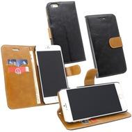 Fontastic PU Tasche Diary Twin schwarz für Apple iPhone 6+/ 6s+