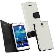 Fontastic PU Tasche Diary Twin weiß für Samsung Galaxy S4 Mini