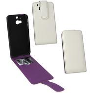 Fontastic PU Tasche Flip Noma weiß für HTC One M8