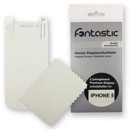 Fontastic Schutzfolie 2 Stück glänzend für Apple iPhone 5/ 5S/ SE