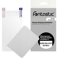 Fontastic Schutzfolie 2 Stück glänzend für Samsung Galaxy S5 Mini