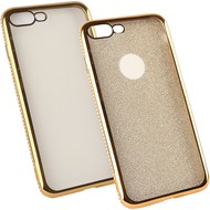 Fontastic Softcover Clear Diamond Ultrathin gold komp. mit Apple iPhone 7 Plus /  iPhone 8 Plus
