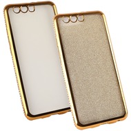 Fontastic Softcover Clear Diamond Ultrathin gold komp. mit Huawei P10