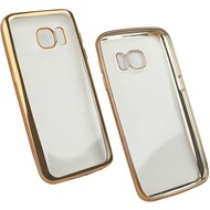 Fontastic Softcover Clear Metallic Ultrathin Gold für Samsung Galaxy S7