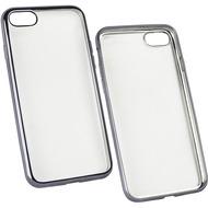 Fontastic Softcover Clear Metallic Ultrathin Space Grau für Apple iPhone 7 /  8