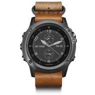 Garmin Fenix 3 mit Saphirglas - grau mit Leder/ Nylon-Armband