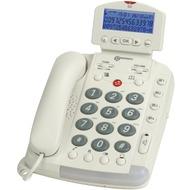 geemarc CL330 Verstärkertelefon mit Hoch-/ Tieftonregelung und Sprachansage, weiß